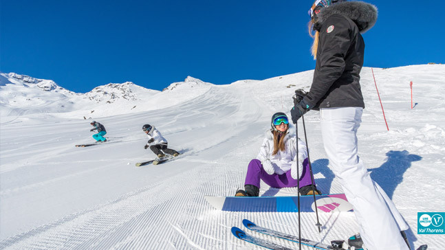 Ski and snowboard picture